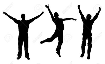 5425340-Winners-and-happy-men-Stock-Vector-silhouette-man-jumping